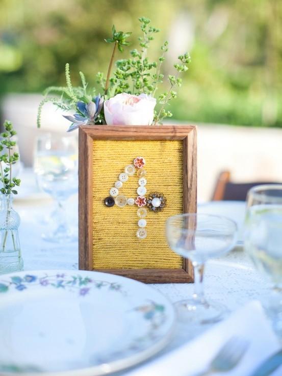 מספרי שולחן מיוחדים לחתונה