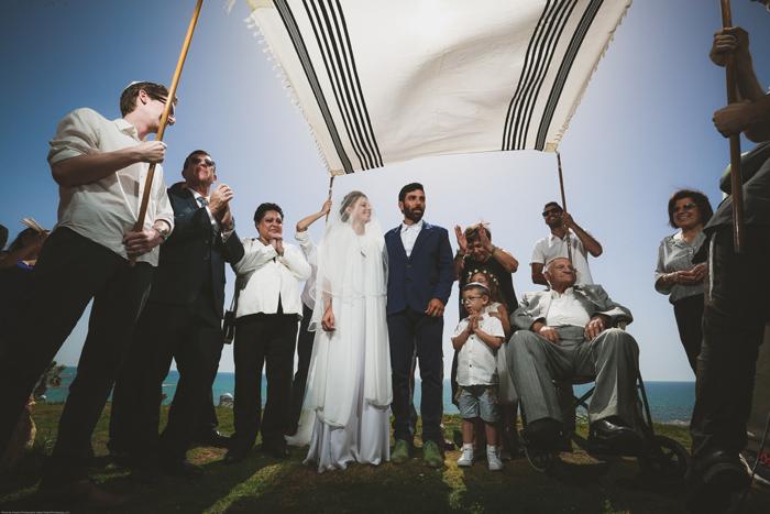 חתונה אינטימית מול הים