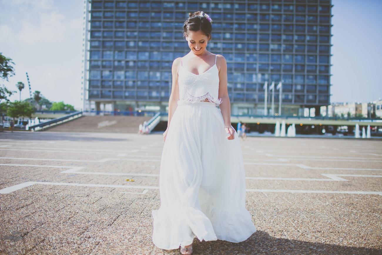 עשר שאהבנו: שמלת כלה ב2 חלקים