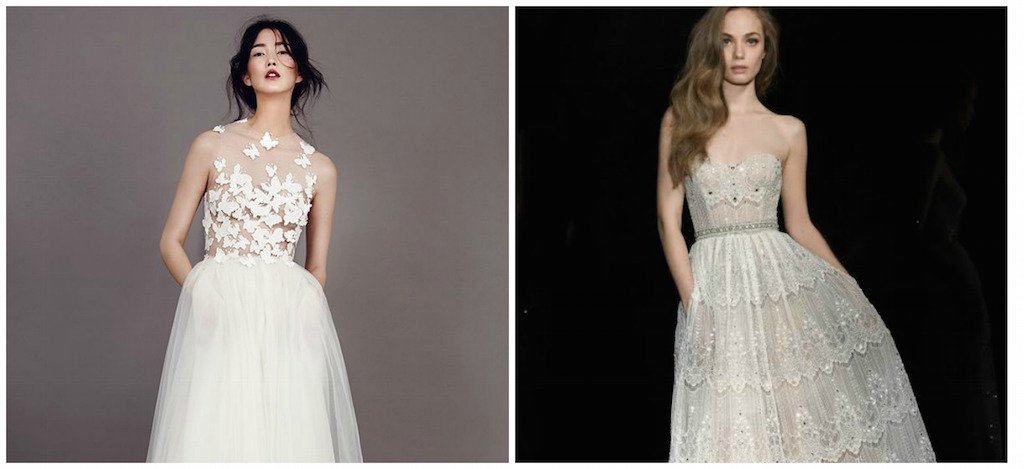 שמלות כלה עם כיסים: השראה
