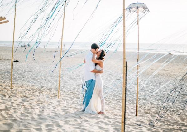 חתונת החוף המשגעת של לי ואמיר