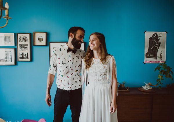 חגיגה צבעונית בכרם: החתונה של אור ויעל
