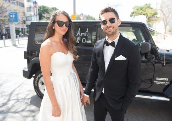 חגיגה כחול לבן: החתונה של עמית ואורן