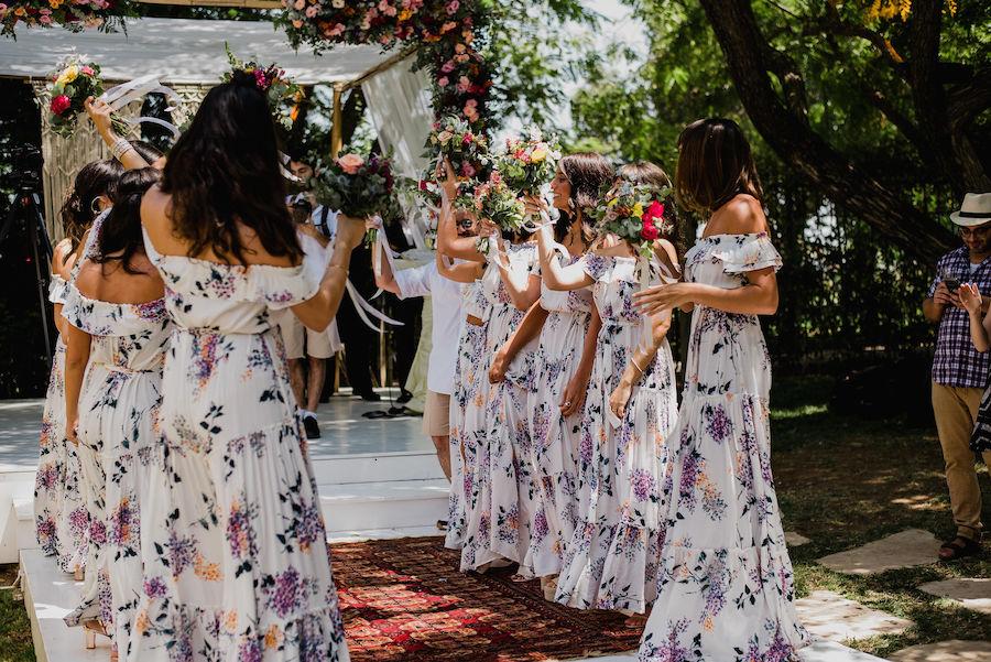 11 שושבינות וכלה אחת בסטייל: החתונה של רוני ואביעד
