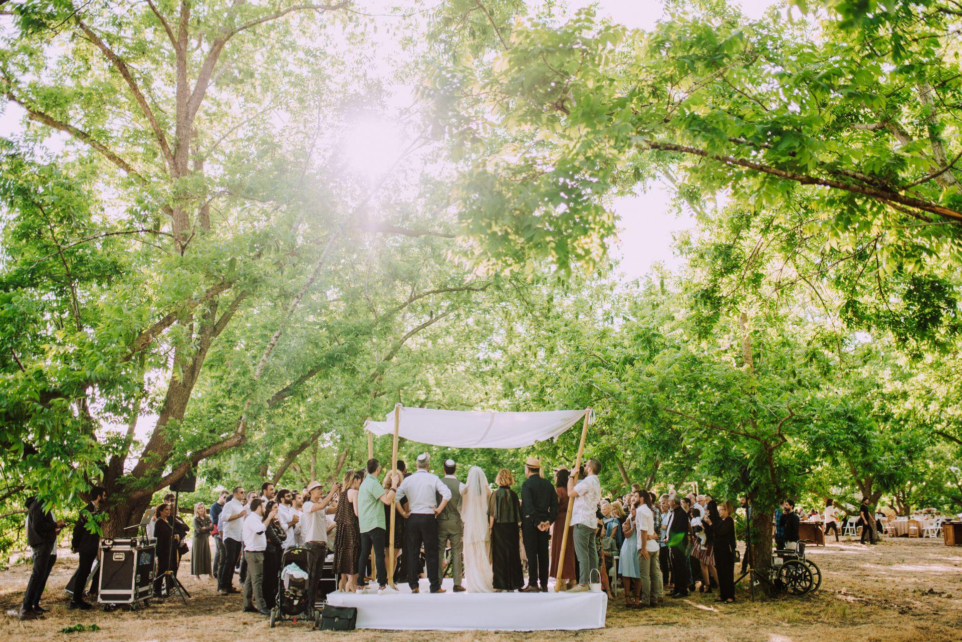 כשאחות הכלה היא מעצבת: חתונת הטבע הפינטרסטית המושלמת