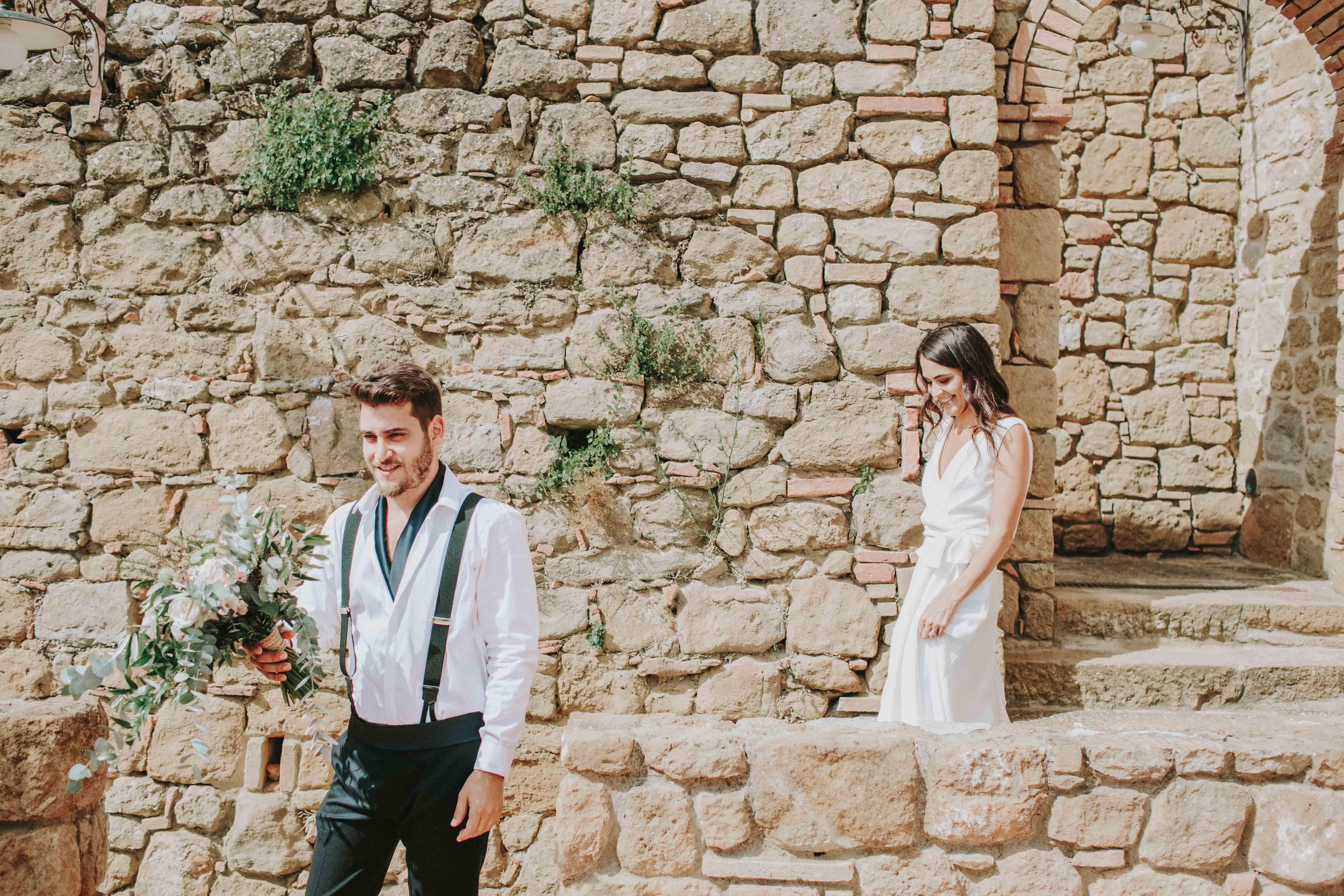 חתונה בטוסקנה, שמלה מפריז, אורחים מישראל