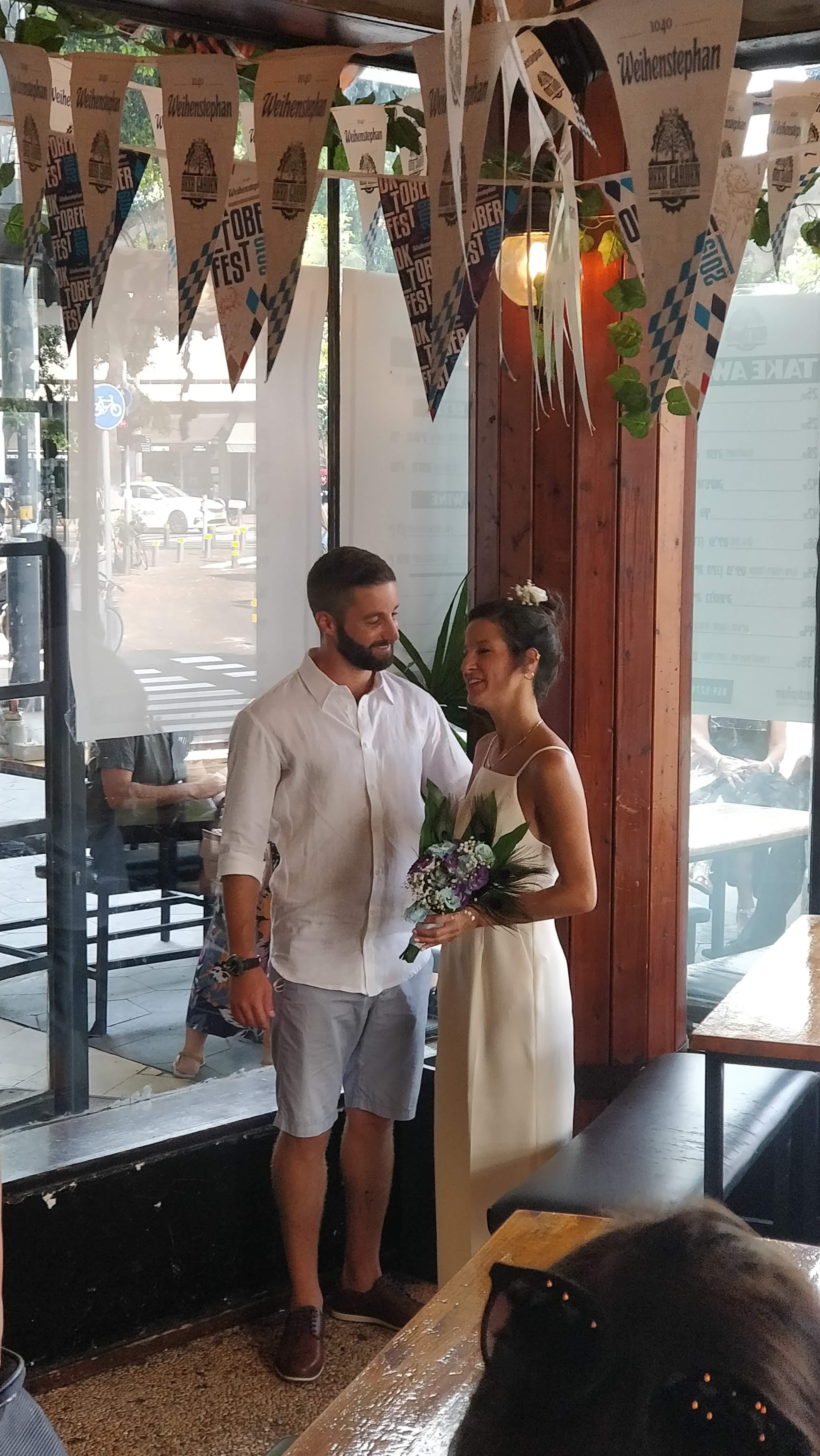 הכי מרגשת: חתונת פופ אפ בכיכר דיזינגוף