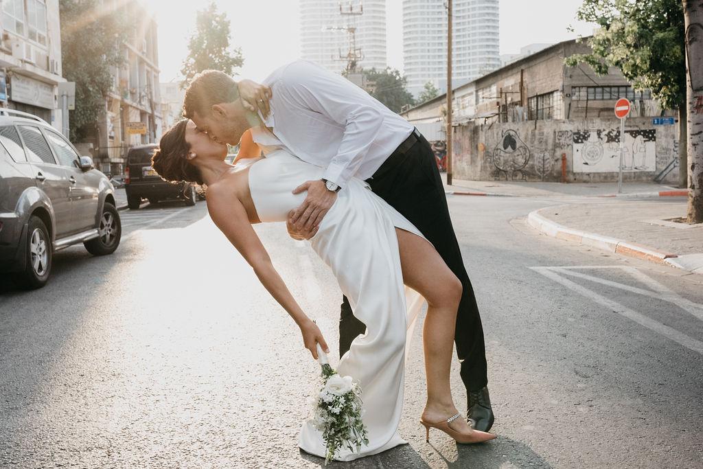 צילומי זוגיות בעשר דקות: החתונה האורבנית של ליהי ובן