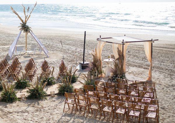 חתונה פינטרסטית מהחלומות על חוף הים