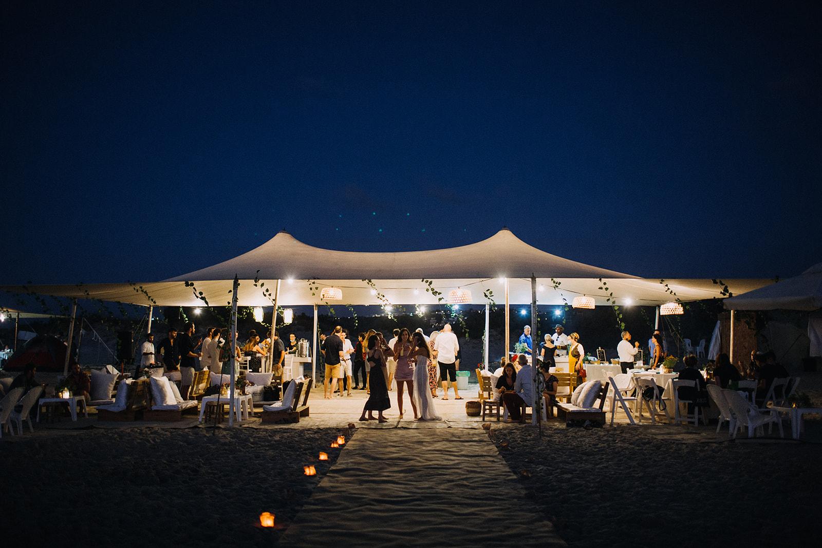 חתונת חוף אינטימית: דנה וישי