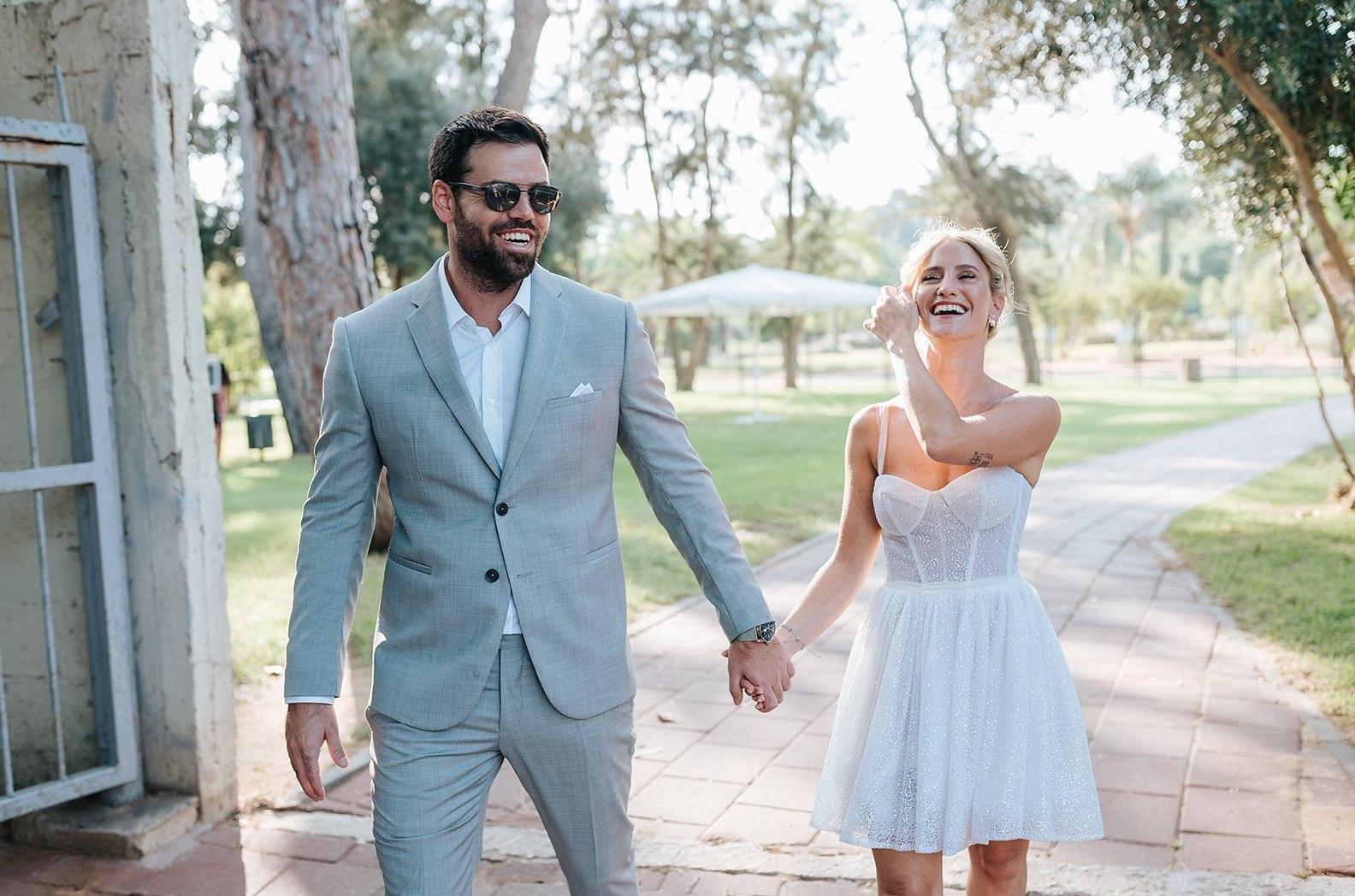 חתונה אינטימית בגן הקקטוסים של רמת גן