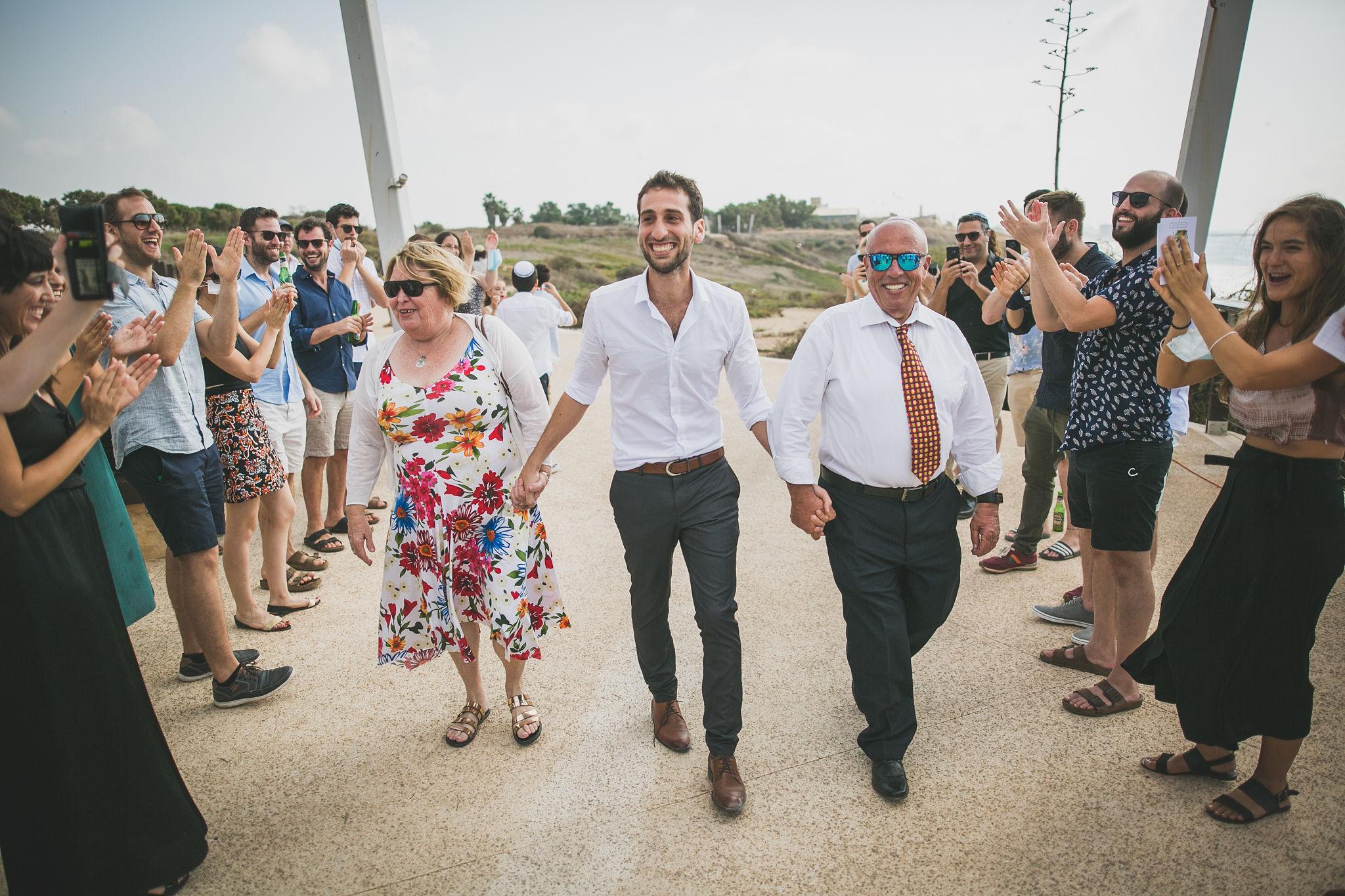 חתונה קטנה בגן לאומי אפולוניה: נעה וחיים