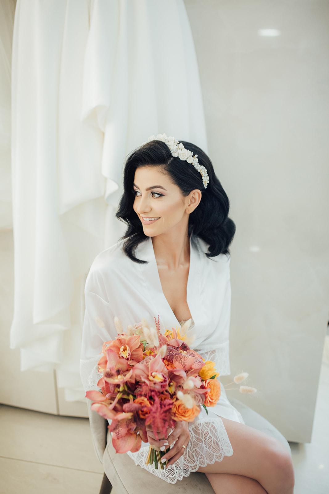 עיצוב בוהו עם נגיעות של כתום: החתונה של מיריי וסלימאן