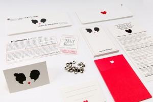 Dita Design Invitations black white and red