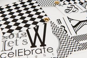 Dita Design Black and White Invitation