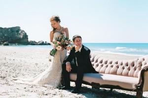 An intimate wedding on the beach