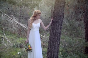 Tamara's white vision in the woods